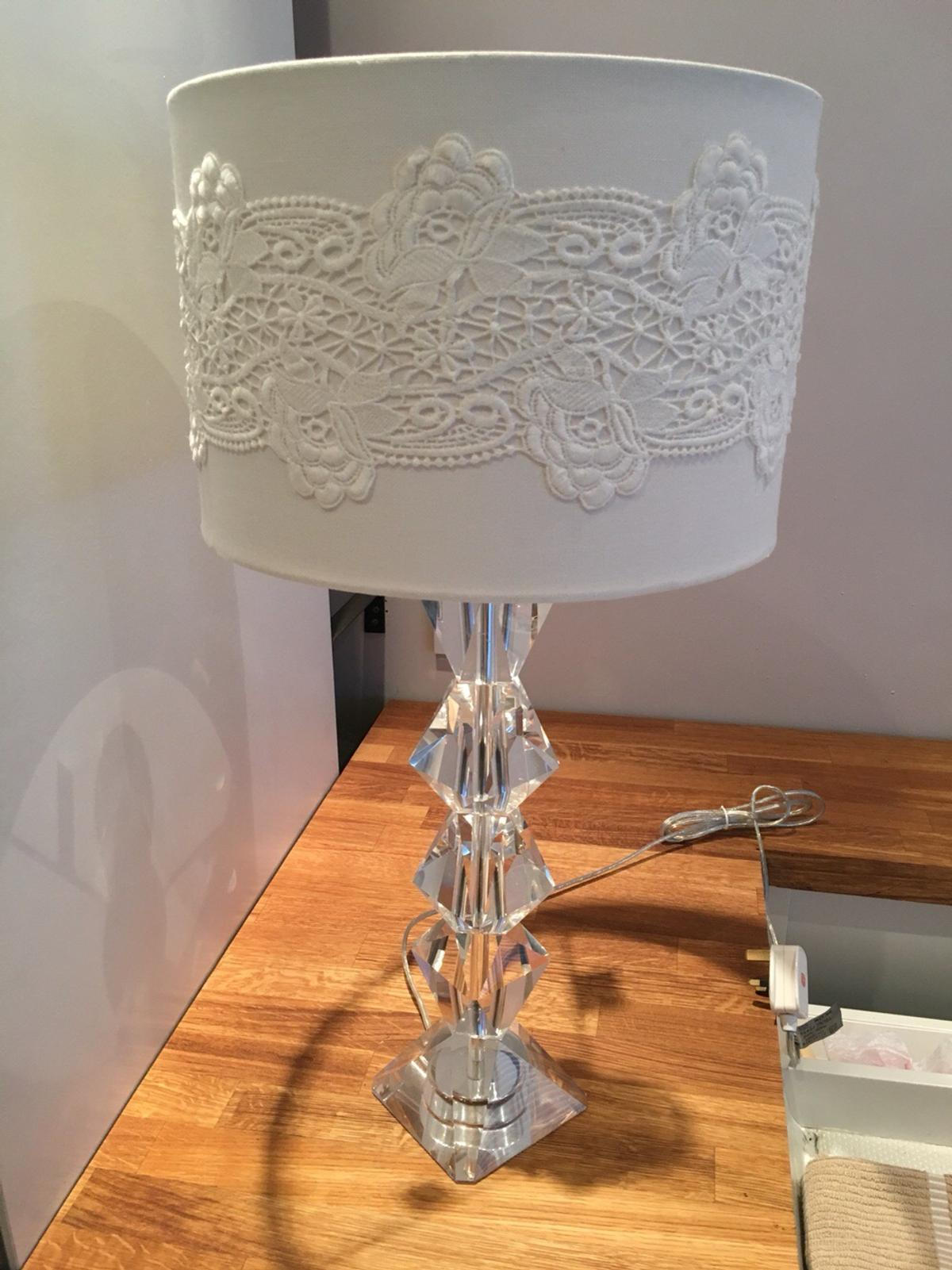 Crystal Bhs Table Lamp And Lace Lampshade In Cv6 Coventry For 40 00 For Sale Shpock