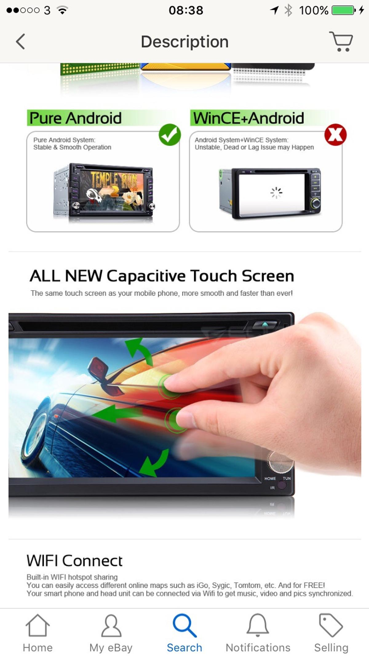 Eonon G2110 Android Double din car dvd in NW10 London for £185 00
