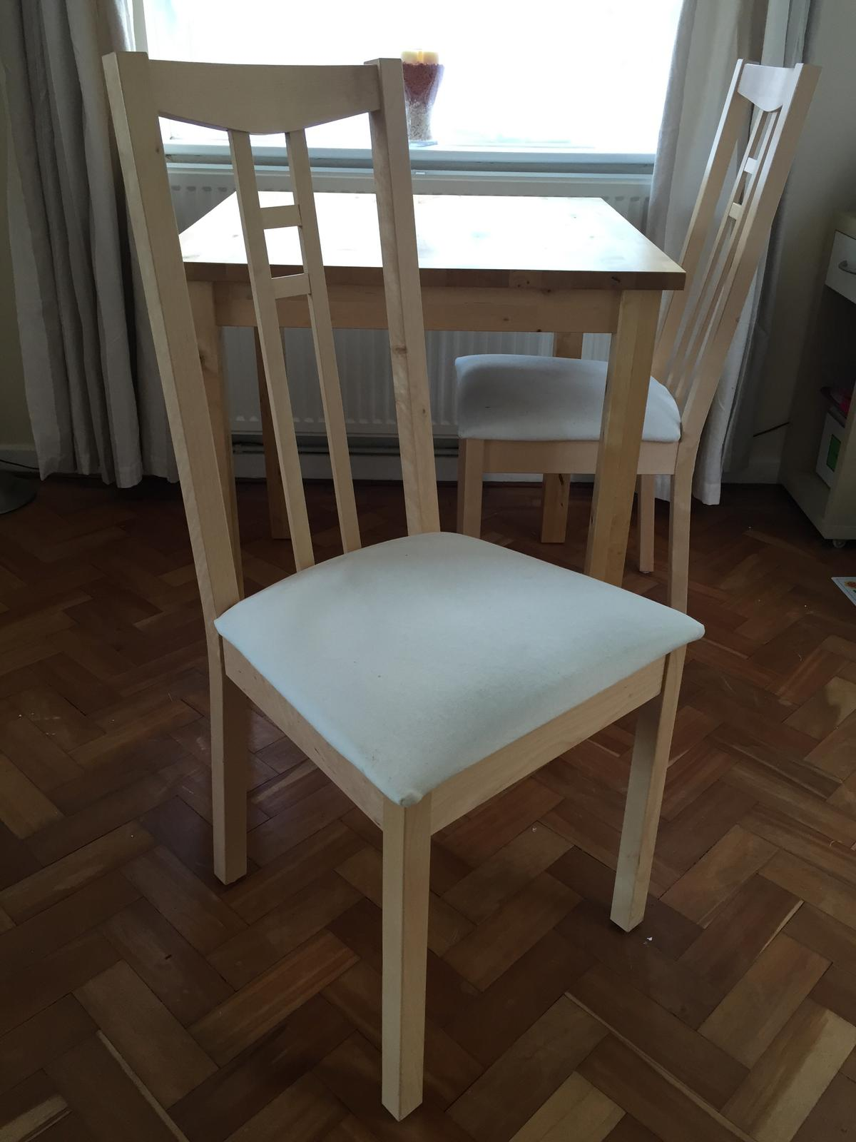 Description Excellent Condition Small Solid Wood Birch Dining Table From Ikea