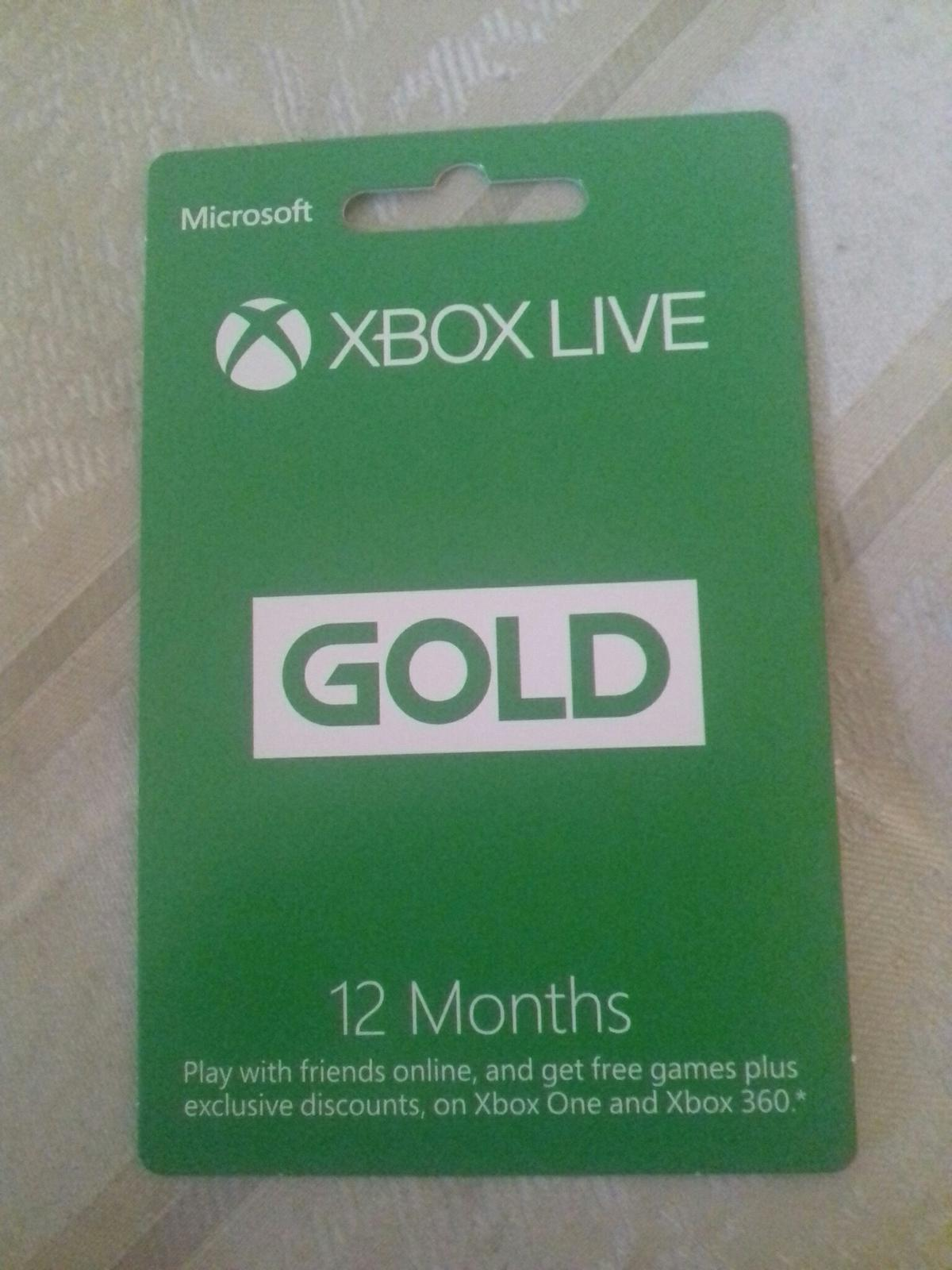Xbox Live 12 Month Gold Redeem Code