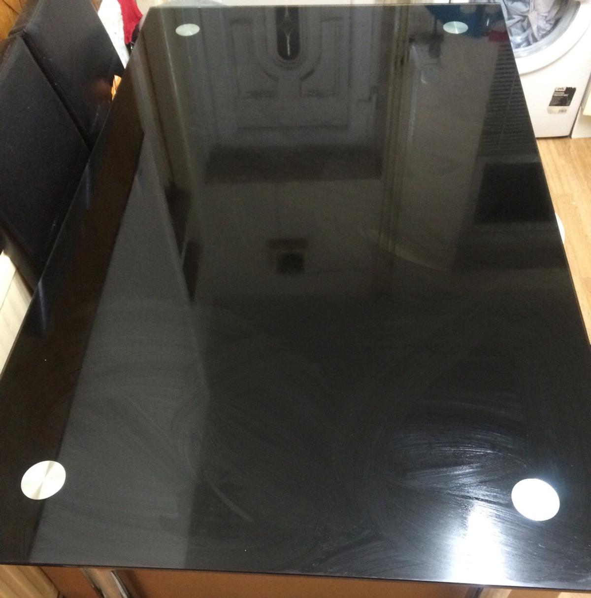 Black Glass Dining Table Chairs Set In OL4 Oldham For 13000 Sale