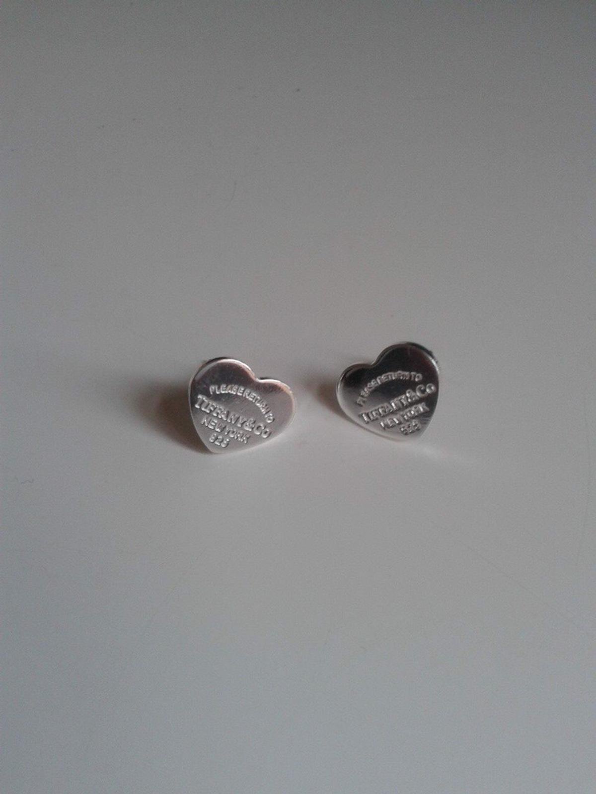31427d804 Tiffany silver heart stud earrings in LE3 Leicester for £5.00 for ...