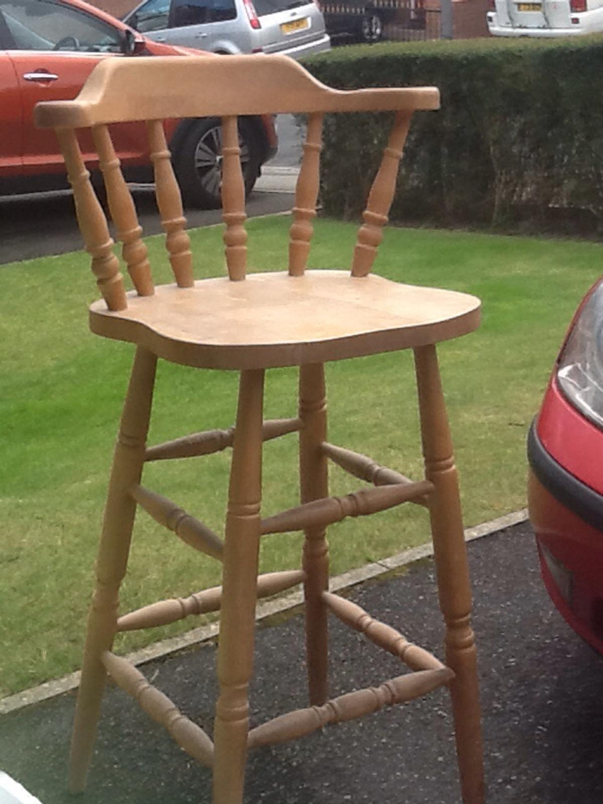 Awesome Solid Antique Pine Breakfast Bar Stools X 2 Evergreenethics Interior Chair Design Evergreenethicsorg