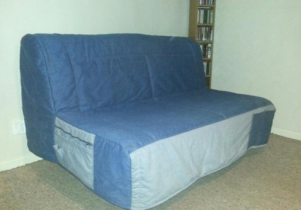 Picture of: Ikea Denim Sofa Bed Futon Double In Bb5 Accrington For 49 00 For Sale Shpock