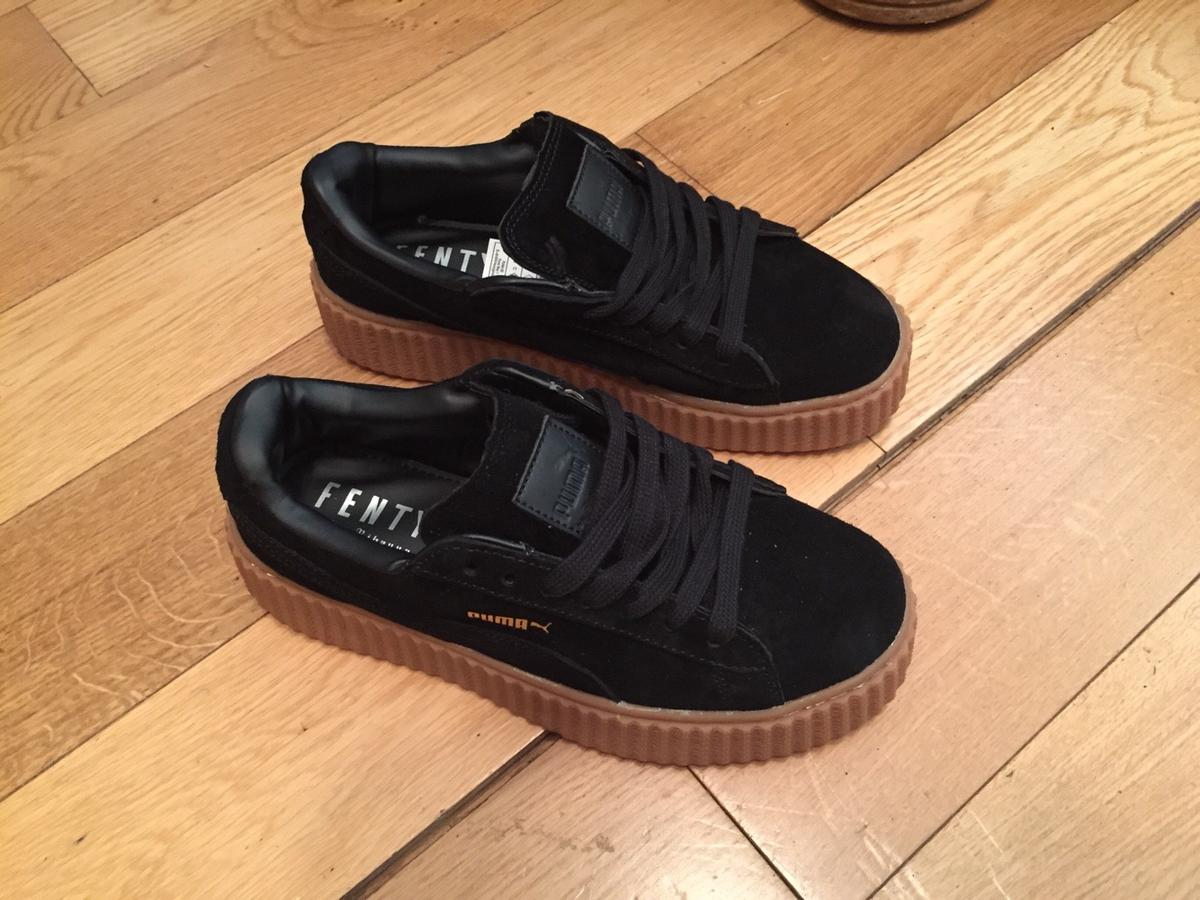 best cheap c03da c000c Creepers Puma Rihanna Black Oat Sole Trainers
