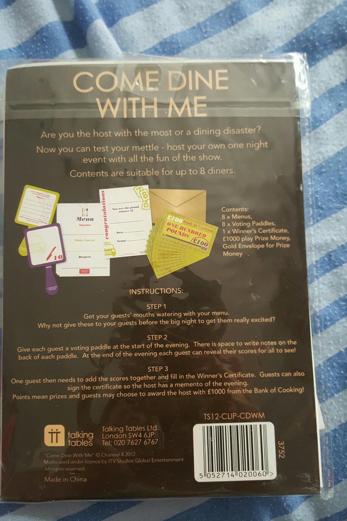 New Come Dine With Me Dinner Party Game in NG20 Arnold für £ 20,20 ...