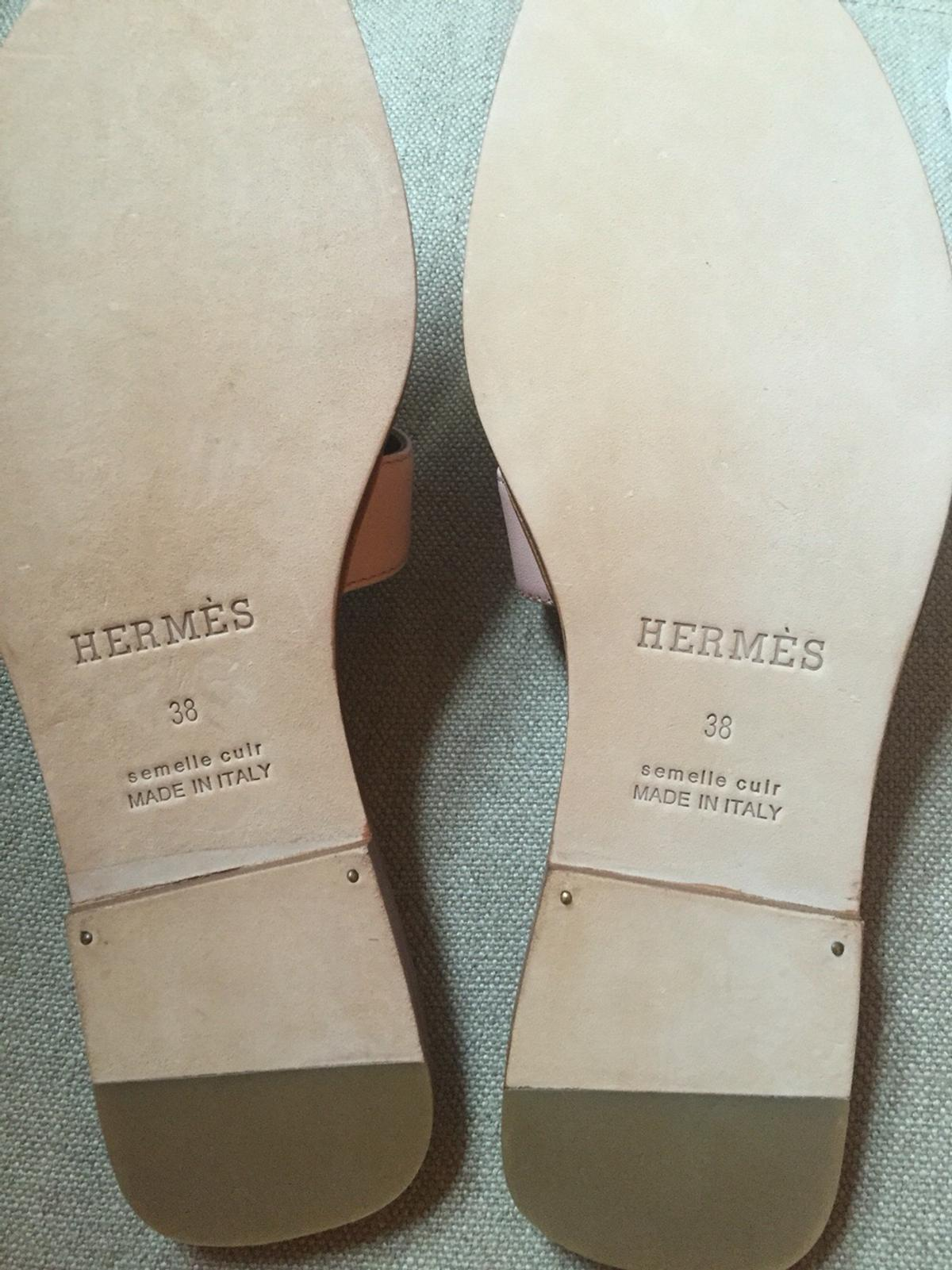 db40f1e8d0f Hermes Oran sandals in a neutral tone 38 5