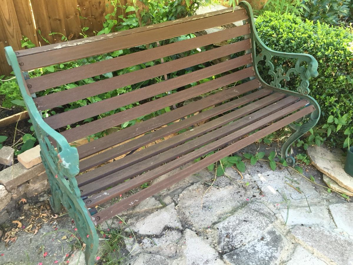 Awesome Cast Iron Side Panel Garden Bench Andrewgaddart Wooden Chair Designs For Living Room Andrewgaddartcom