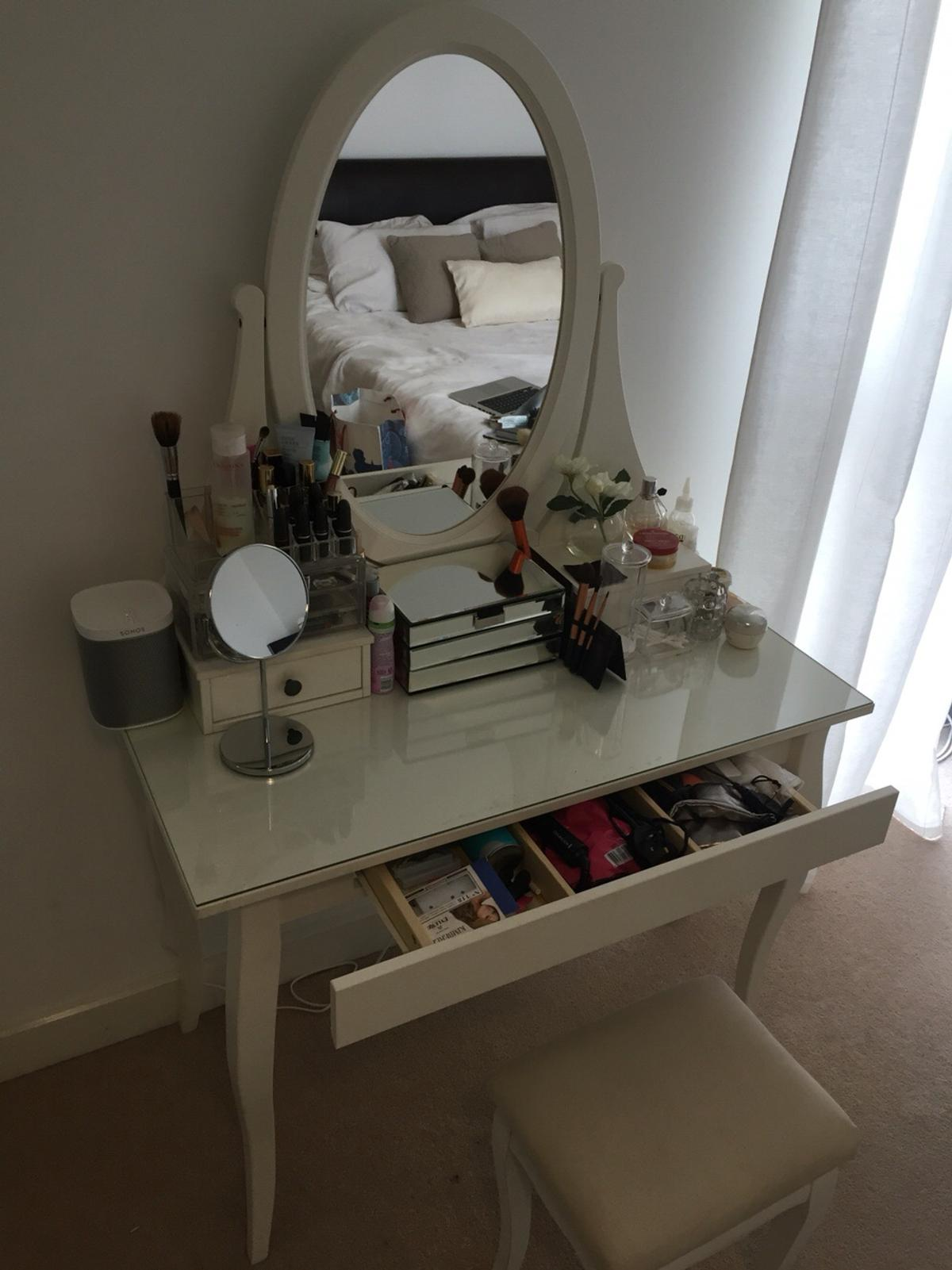 new products 4417e fa724 IKEA Hemnes dressing table with mirror, white in E16 London ...
