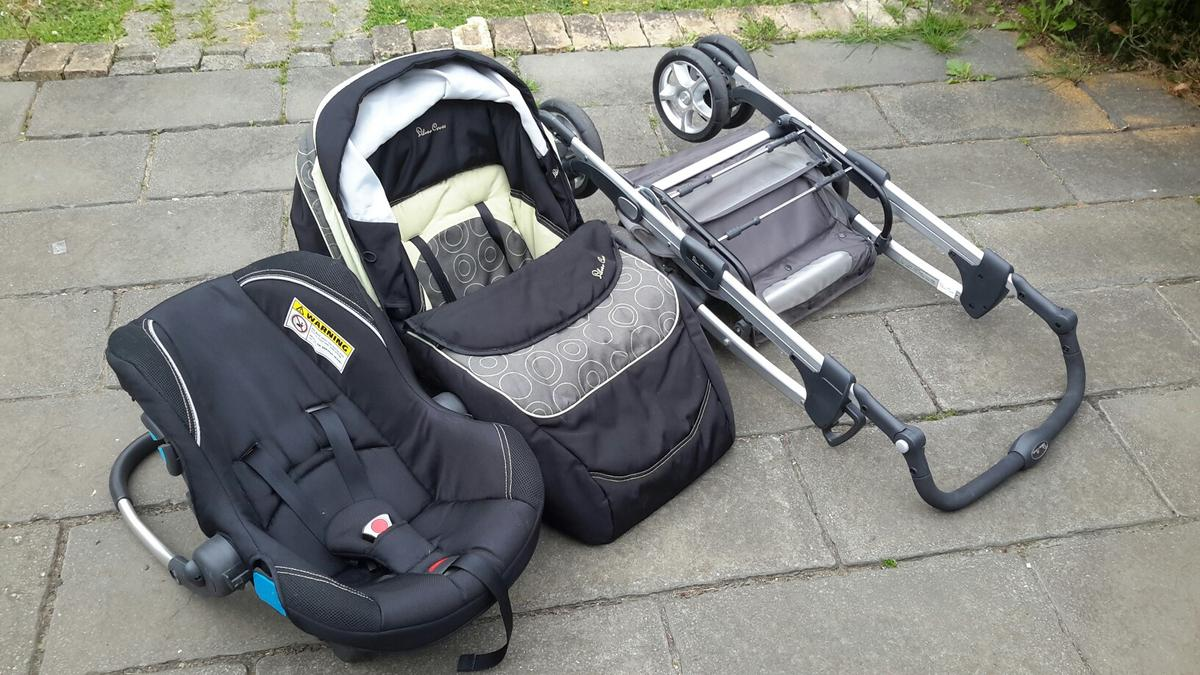 fits Linear and Surf Chassis Silver Cross Ventura Plus Baby Car Seat in Black