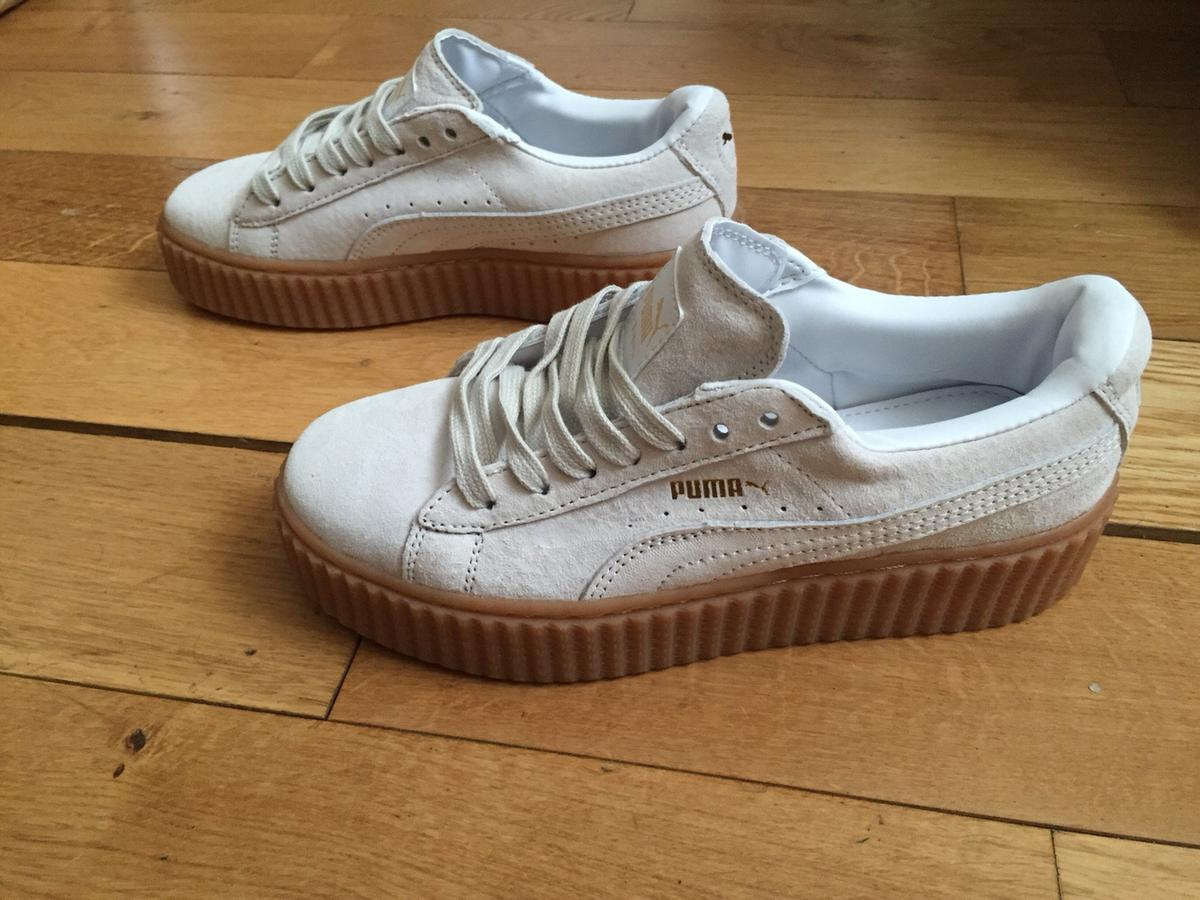 new concept cd917 89a2d Creepers Puma Rihanna White Trainers