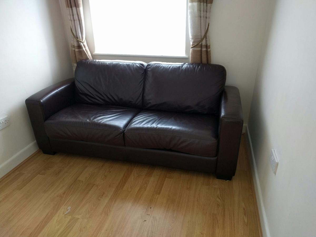 Groovy Leather Sofabed Sofa Double Bed Dante In Tw5 Hounslow Alphanode Cool Chair Designs And Ideas Alphanodeonline