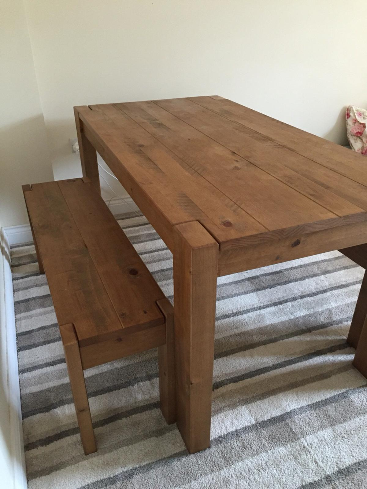 NEXT HARTFORD KENDALL DINING TABLE BENCH SET In LE8 Blaby For