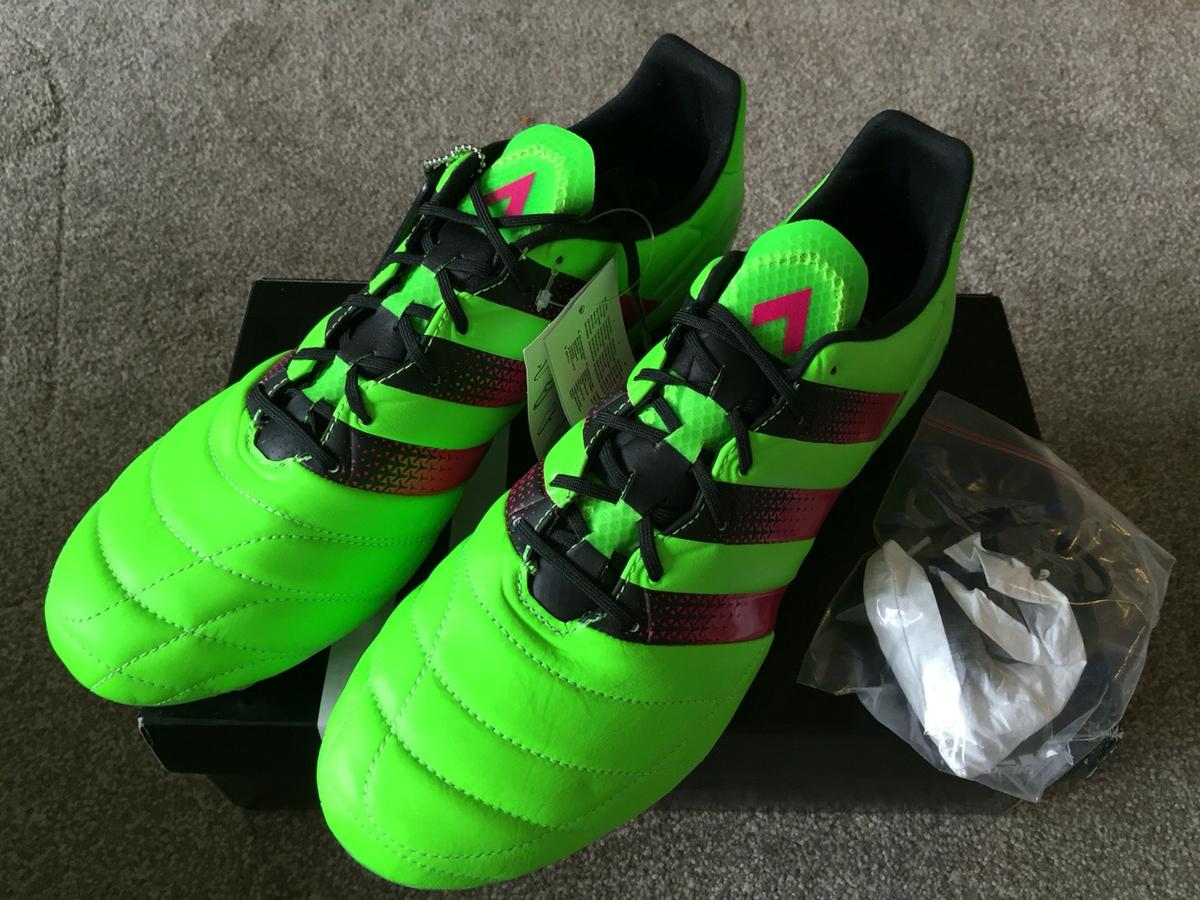 best sneakers 6dd0a b713d ADIDAS ACE 16.1 SG LEATHER FOOTBALL BOOTS 10