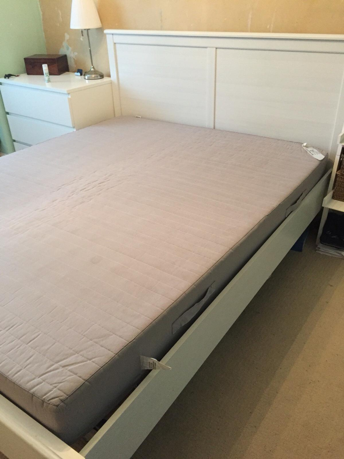 the best attitude 617b3 a0870 King size IKEA Brimnes wooden bed.