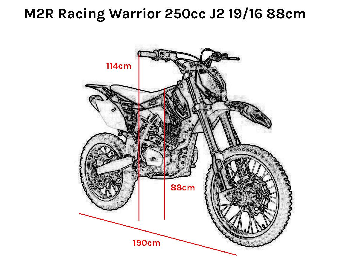 M2R Racing Warrior 250cc 88cm Dirt Bike in DY4 Tipton for
