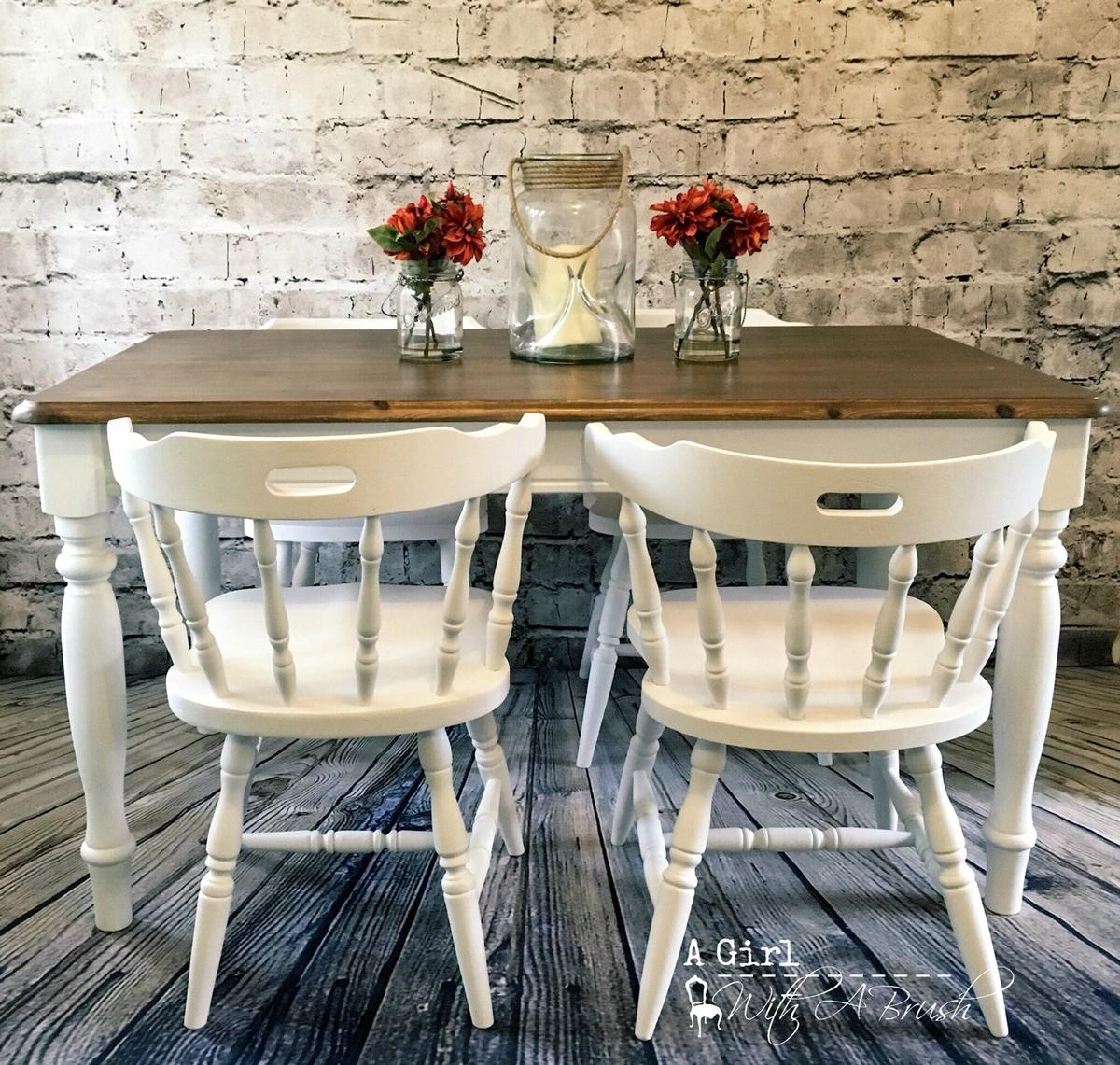 Farmhouse Dining Table And Chairs Shabby Chic