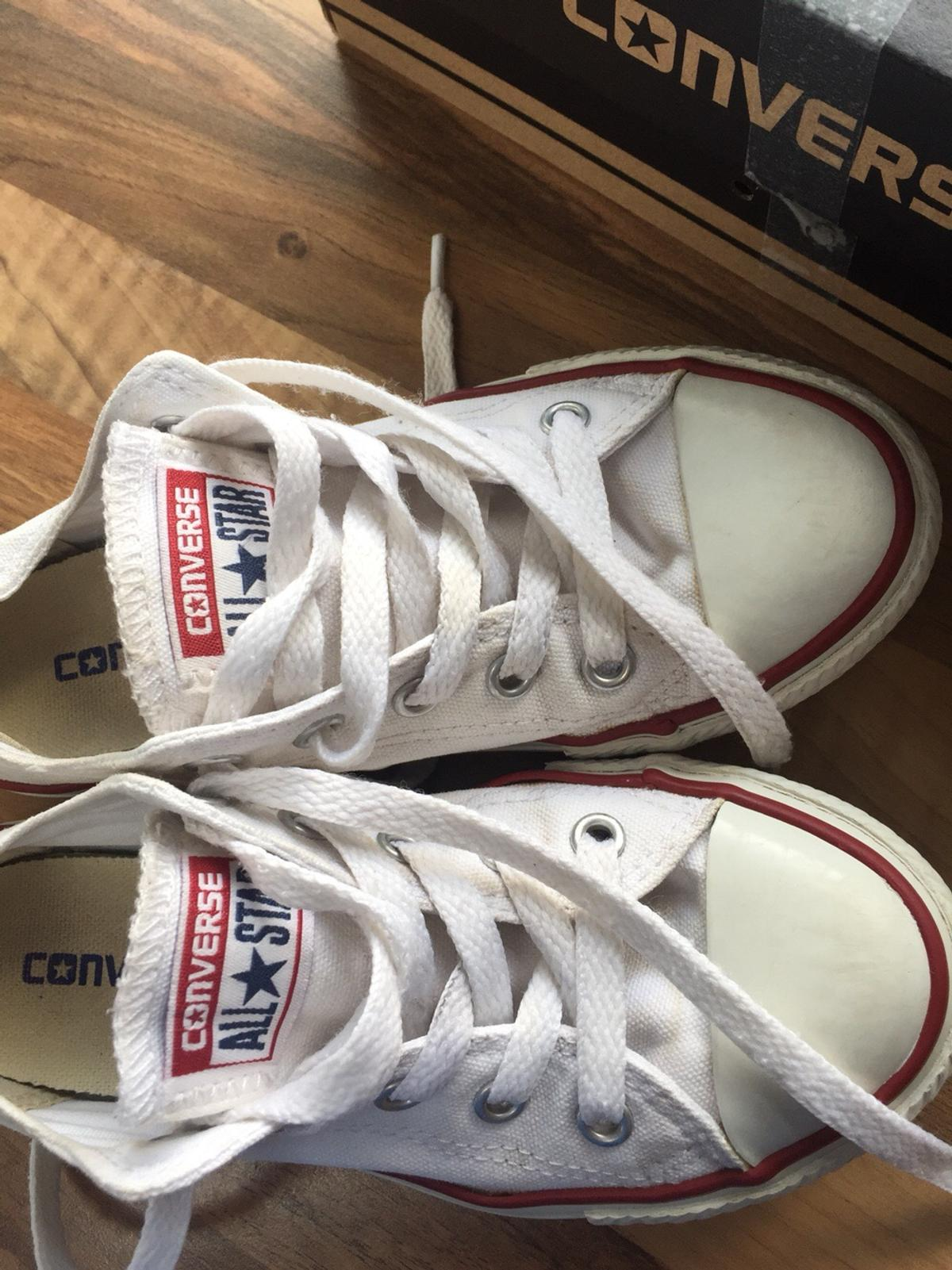 exquisite craftsmanship purchase genuine moderate cost GIRLS WHITE CONVERSE SIZE 12 JUNIOR in NP10 Rogerstone for ...