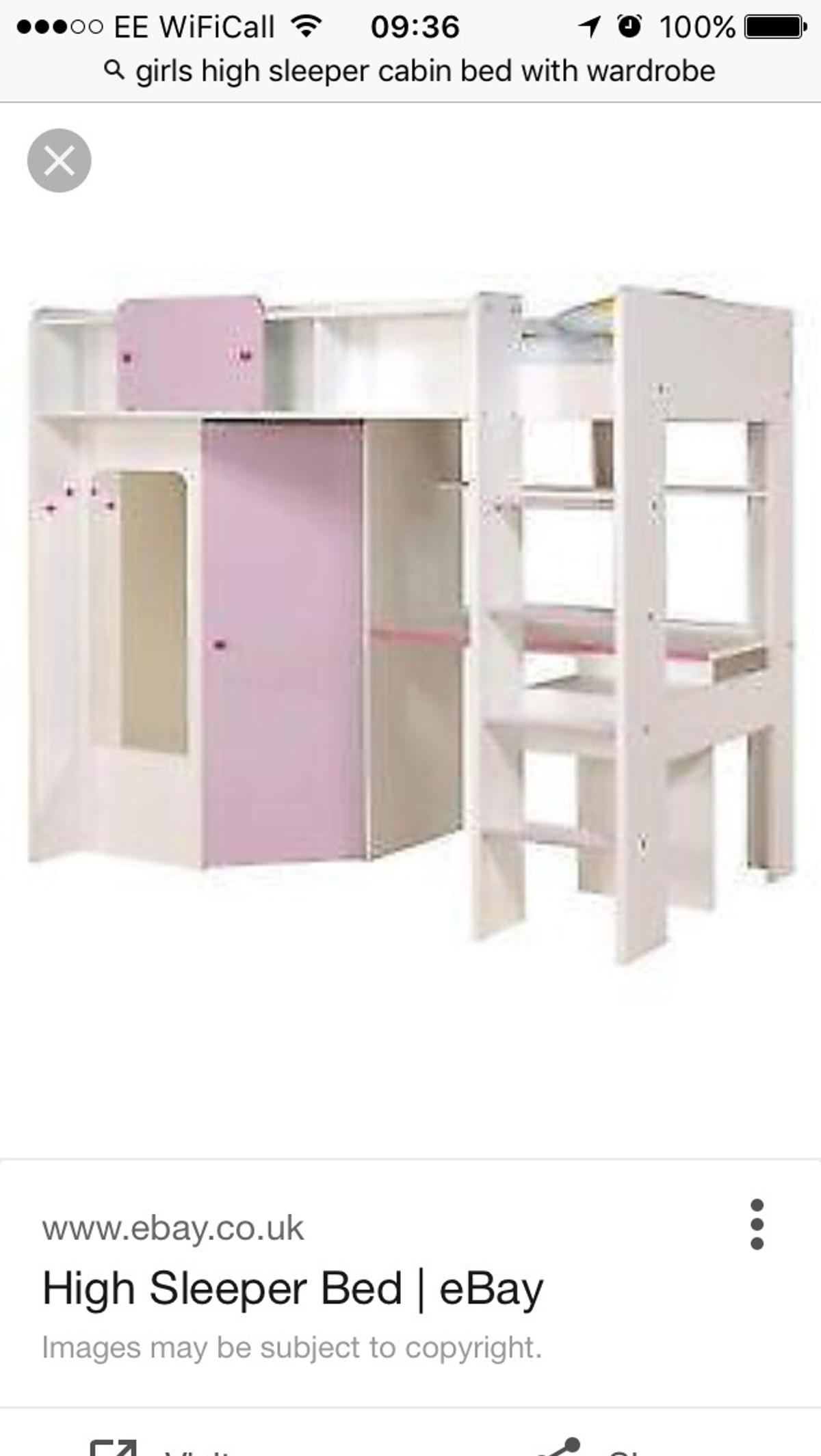 Picture of: Girls High Sleeper Cabin Bed In De55 Alfreton For 50 00 For Sale Shpock