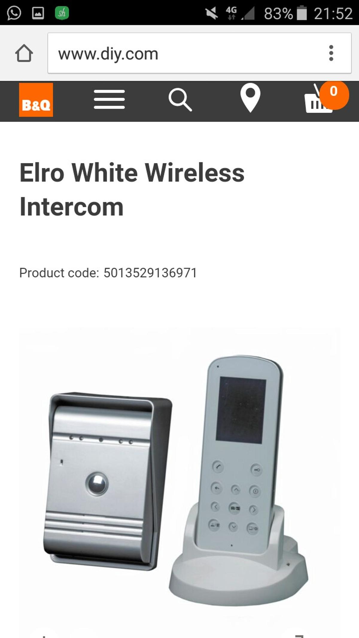 Elro Wireless Chime.Elro White Wireless Intercom In Wn2 Bridge For 100 00 For