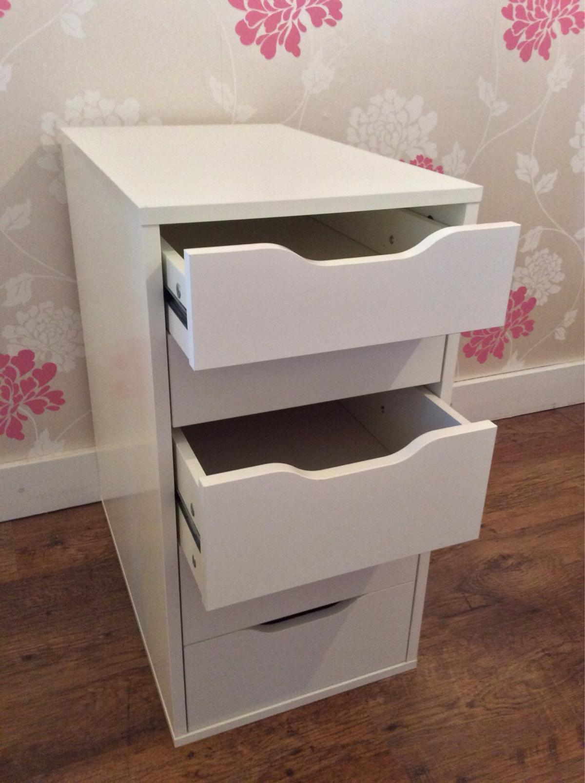 Ikea White Desk, Alex Drawers & Gregor Chair in Stockton for