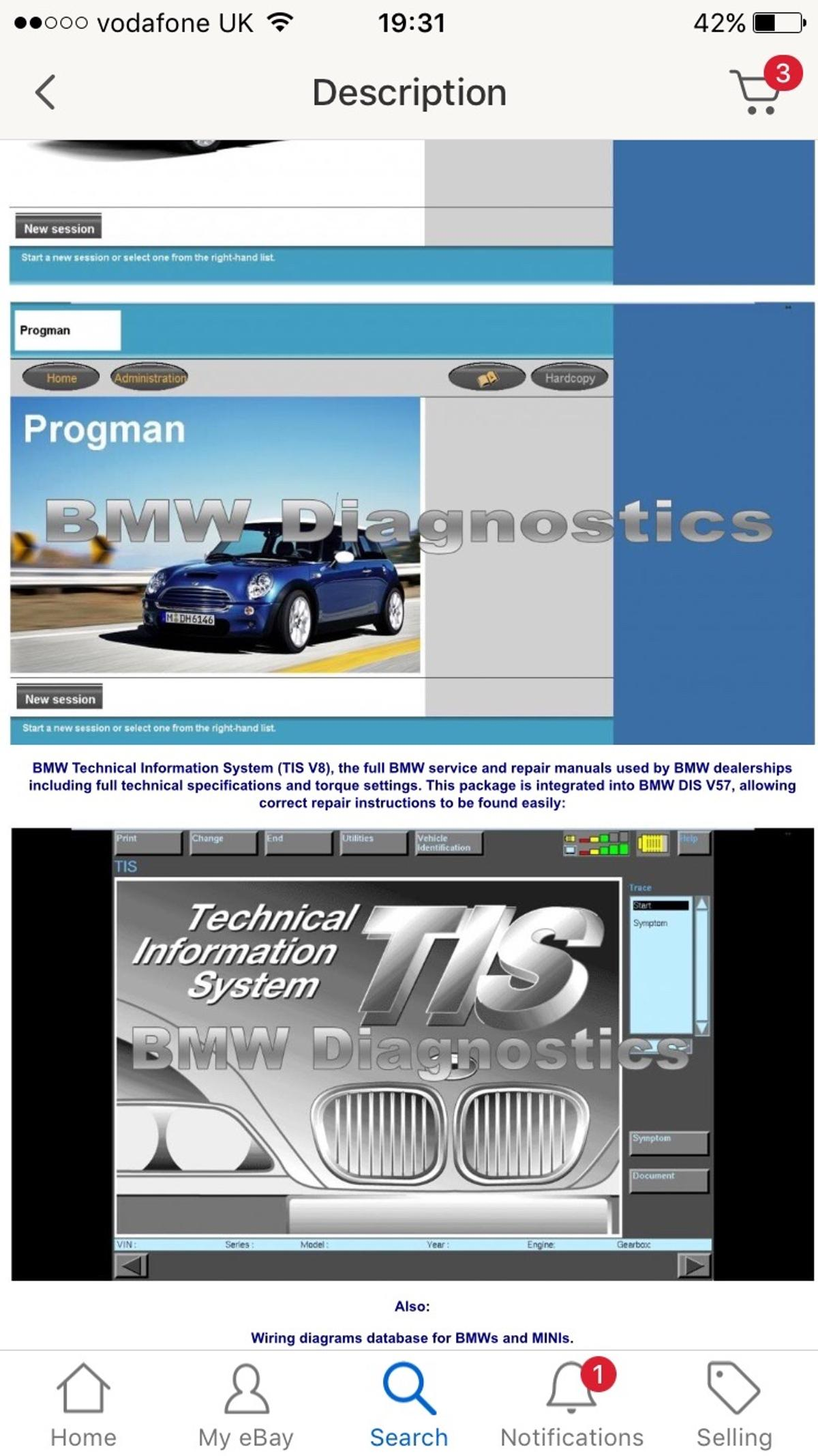BMW SOFTWARE INPA/DIS/SSS+lots more in Kirklees for £40 00