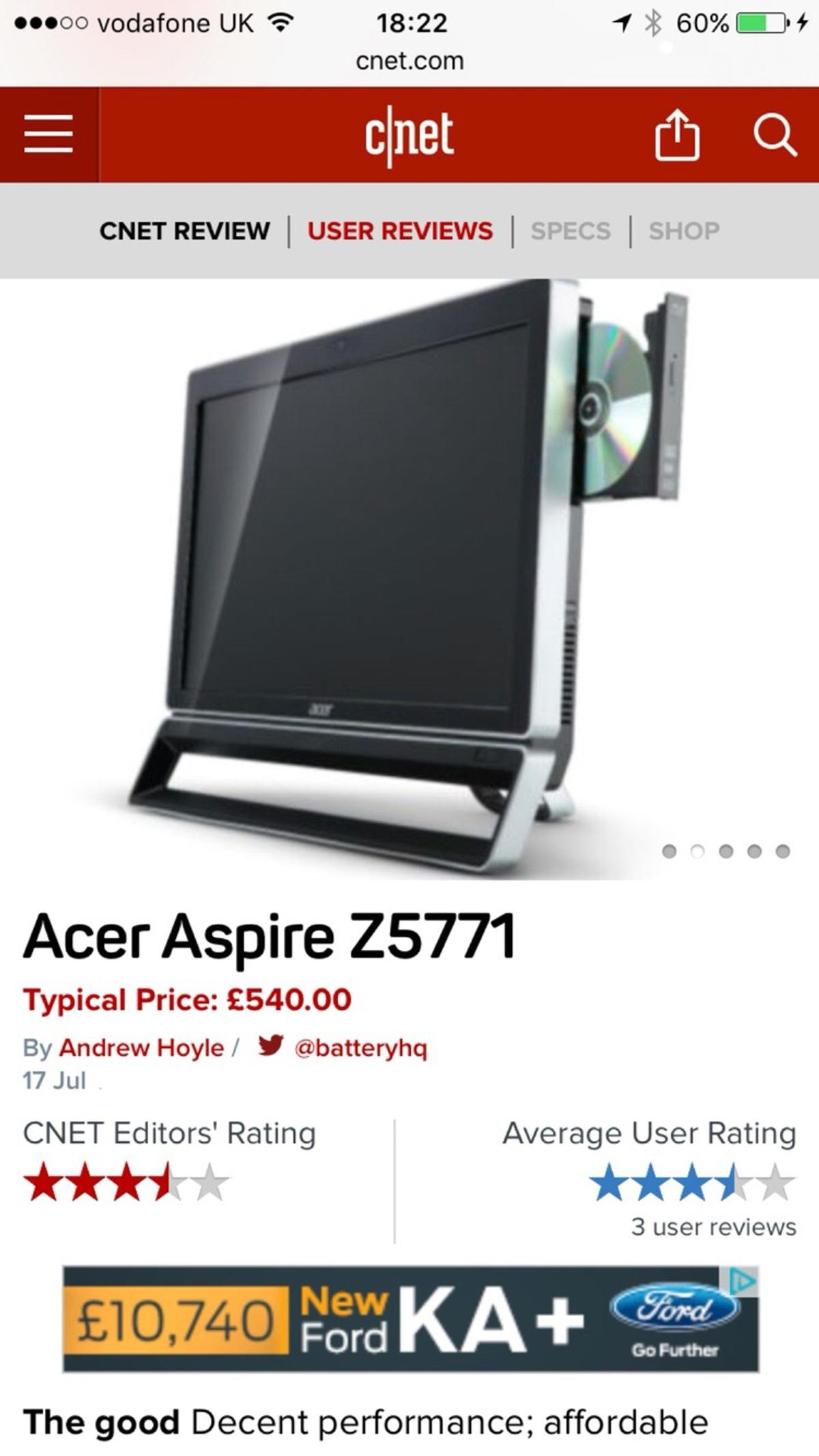 ACER ASPIRE Z5771 TOUCH SCREEN WINDOWS 10 DRIVERS
