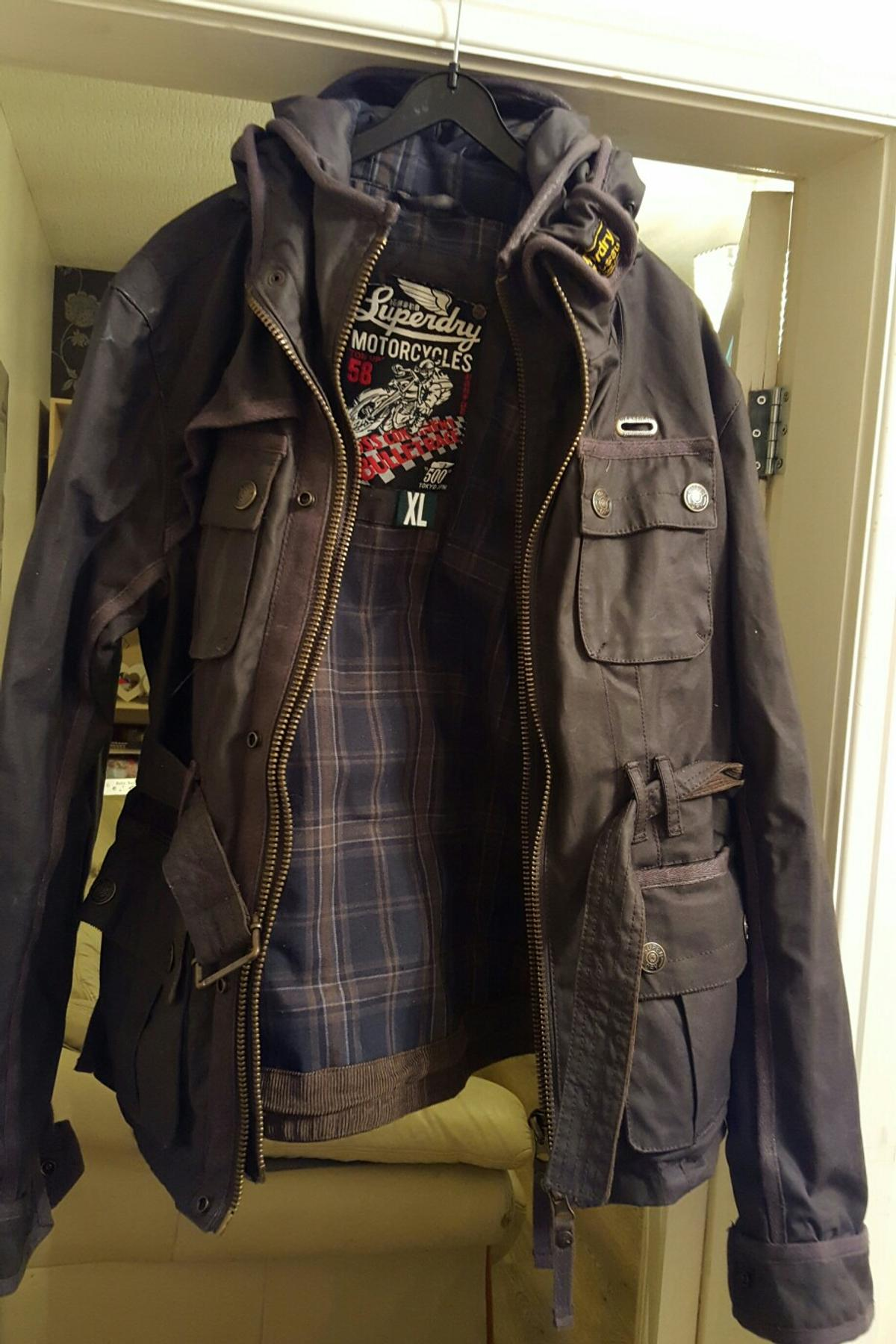SuperDry Motorcycles ton up 58 waxed cotton