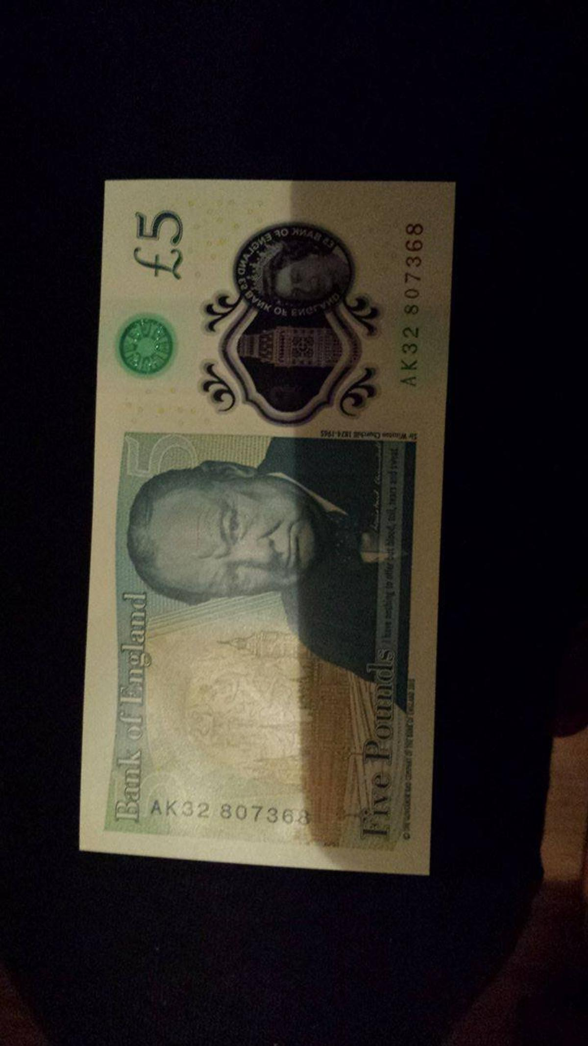 New Polymer English £5 note AK 32 & AC 22 Nos in ML5 Coatbridge for
