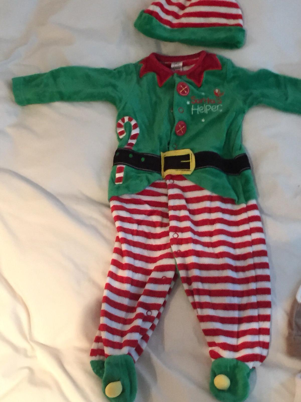 Christmas Pudding Baby Outfit.6 9 Months Christmas Outfit Elf Penguin Etc In Sg8 Royston
