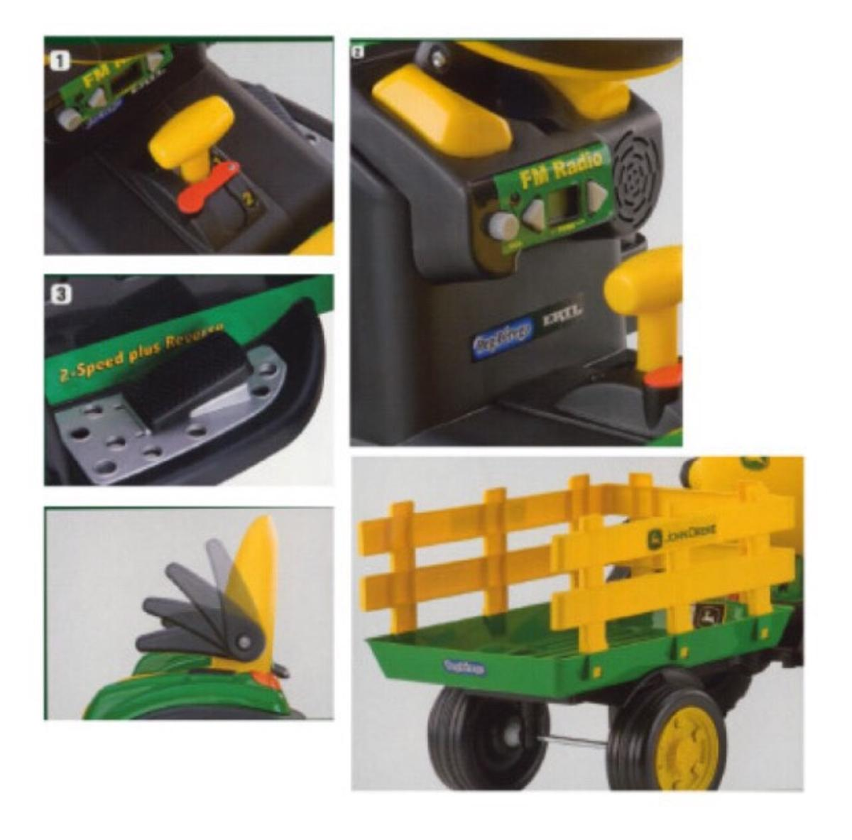 Electric Tractor and Trailer John Deere