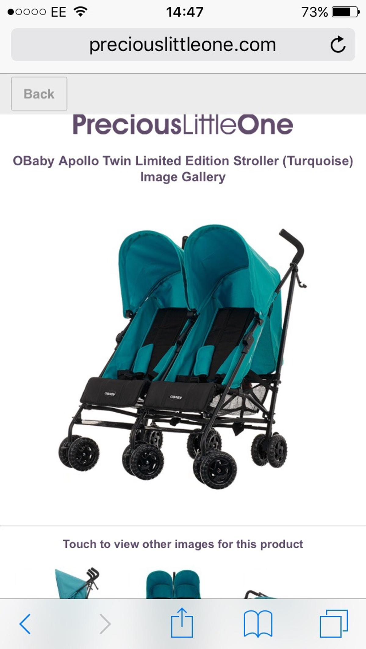 Obaby twin stroller  2 months old  in LL18 Bay for £55 00
