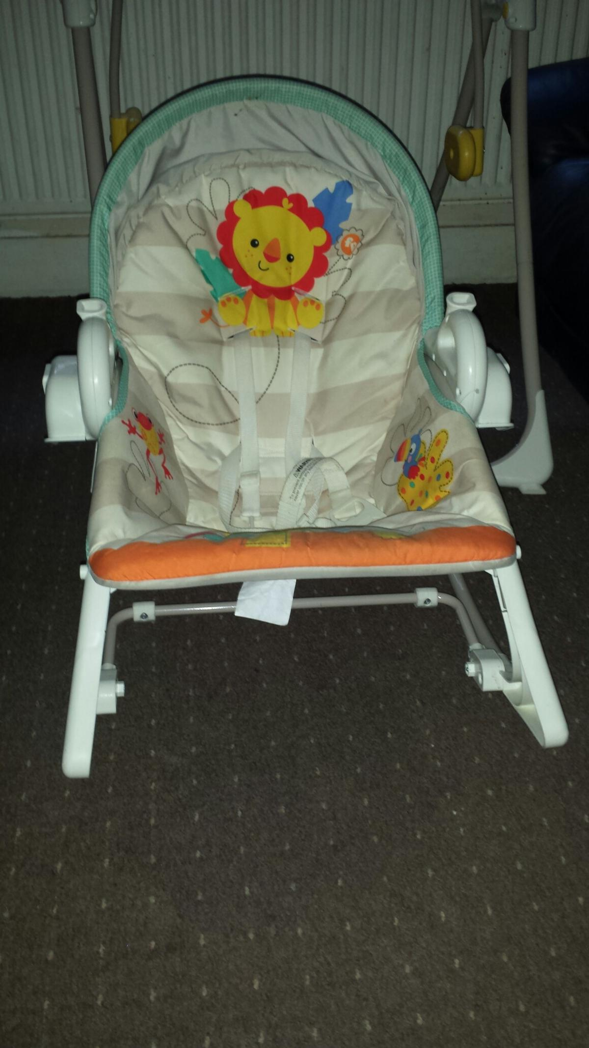 Mothercare Baby Swing Bouncer Toddler Chair In Ss1 Sea Fur 45