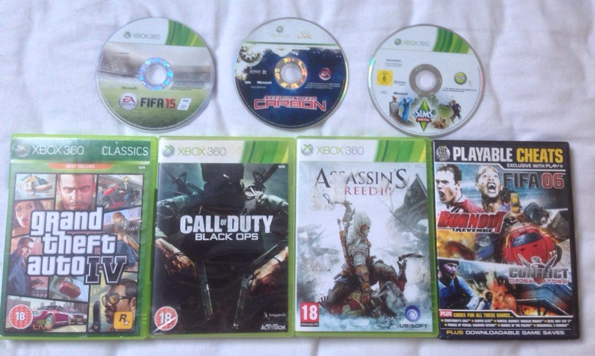 XBOX 360 GAMES BLACK OPS SIMS 3 N4S CARBON