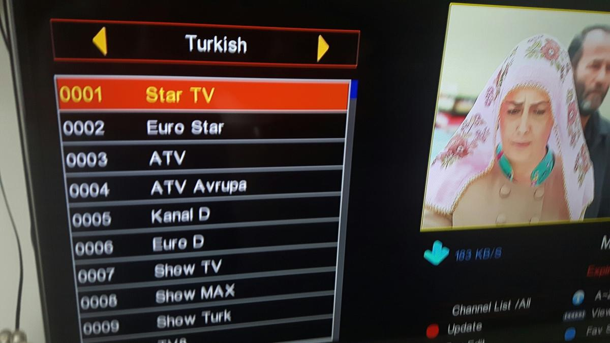 Istar Korea Channel List