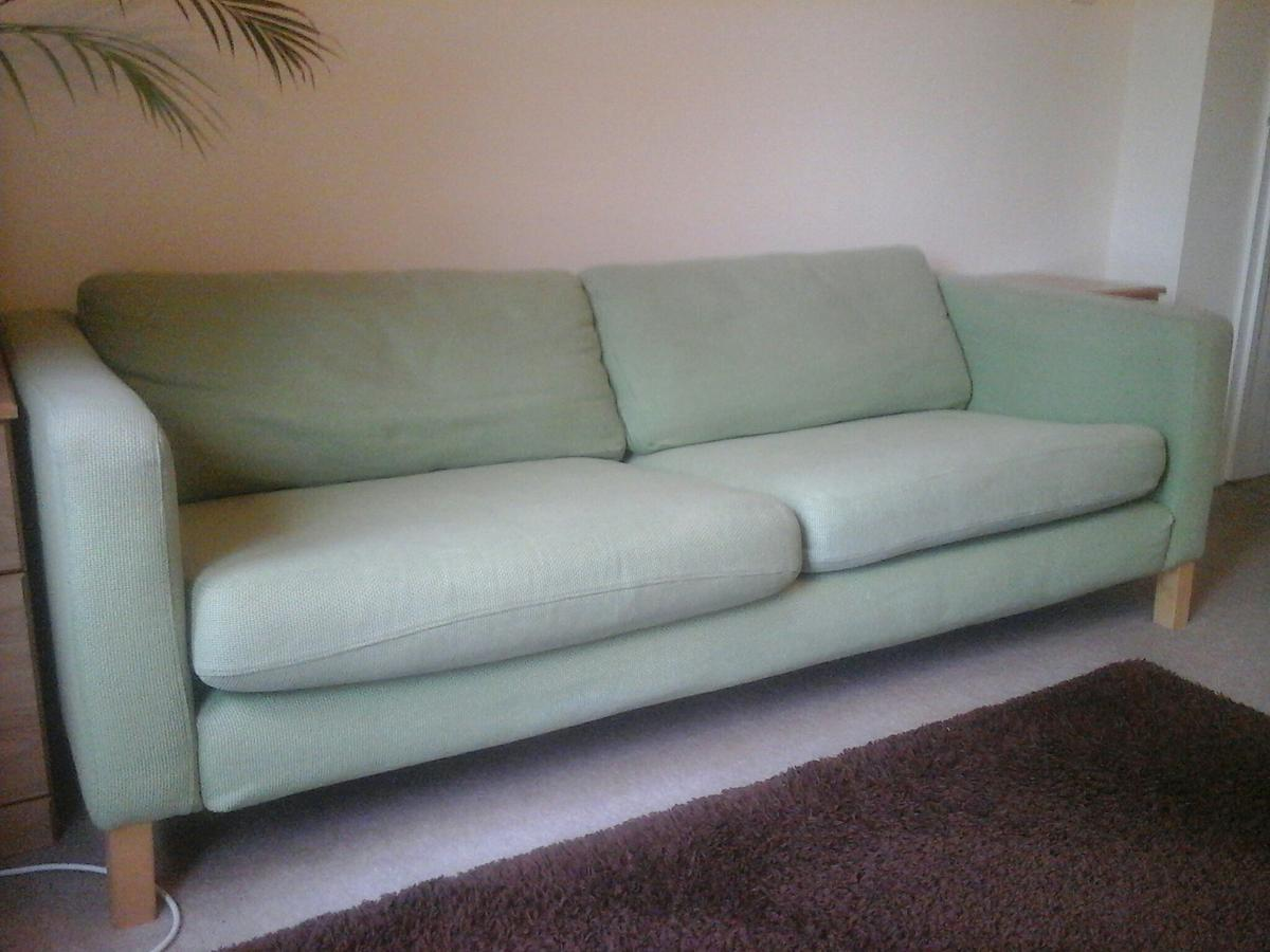 Ikea 3 Seater Sofa In Sivik Green N6