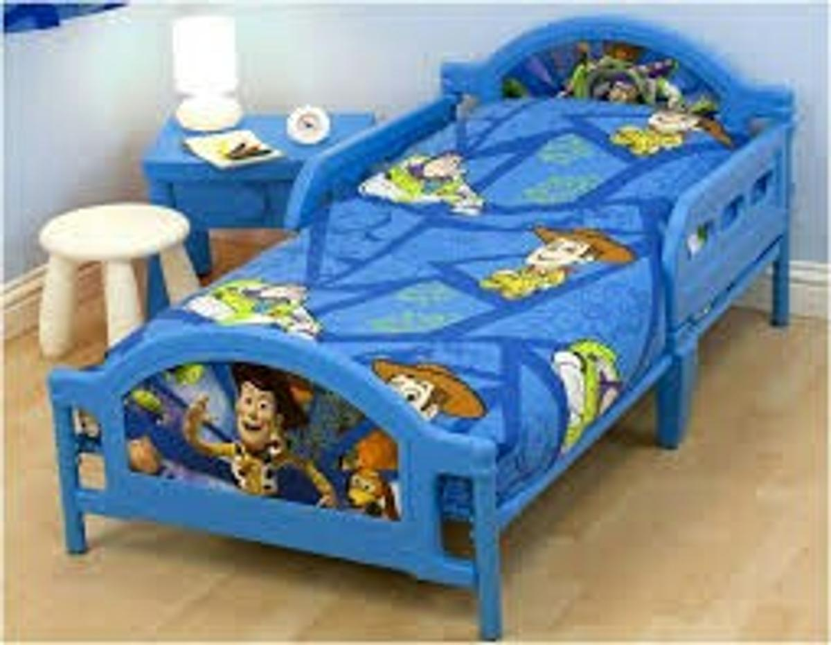 Toy Story Toddler Bed.Toddler Bed Toy Story Blue As New