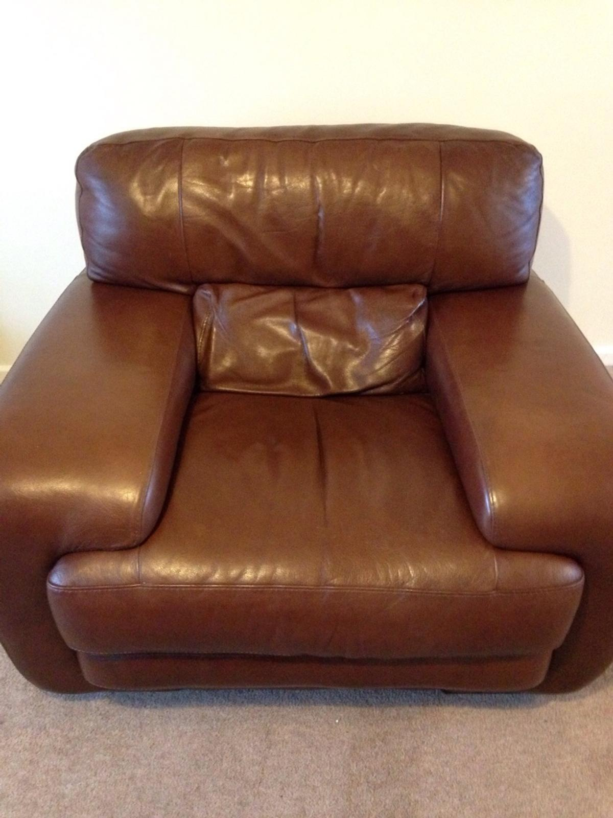 Sofitalia Leather Couch And Chair In