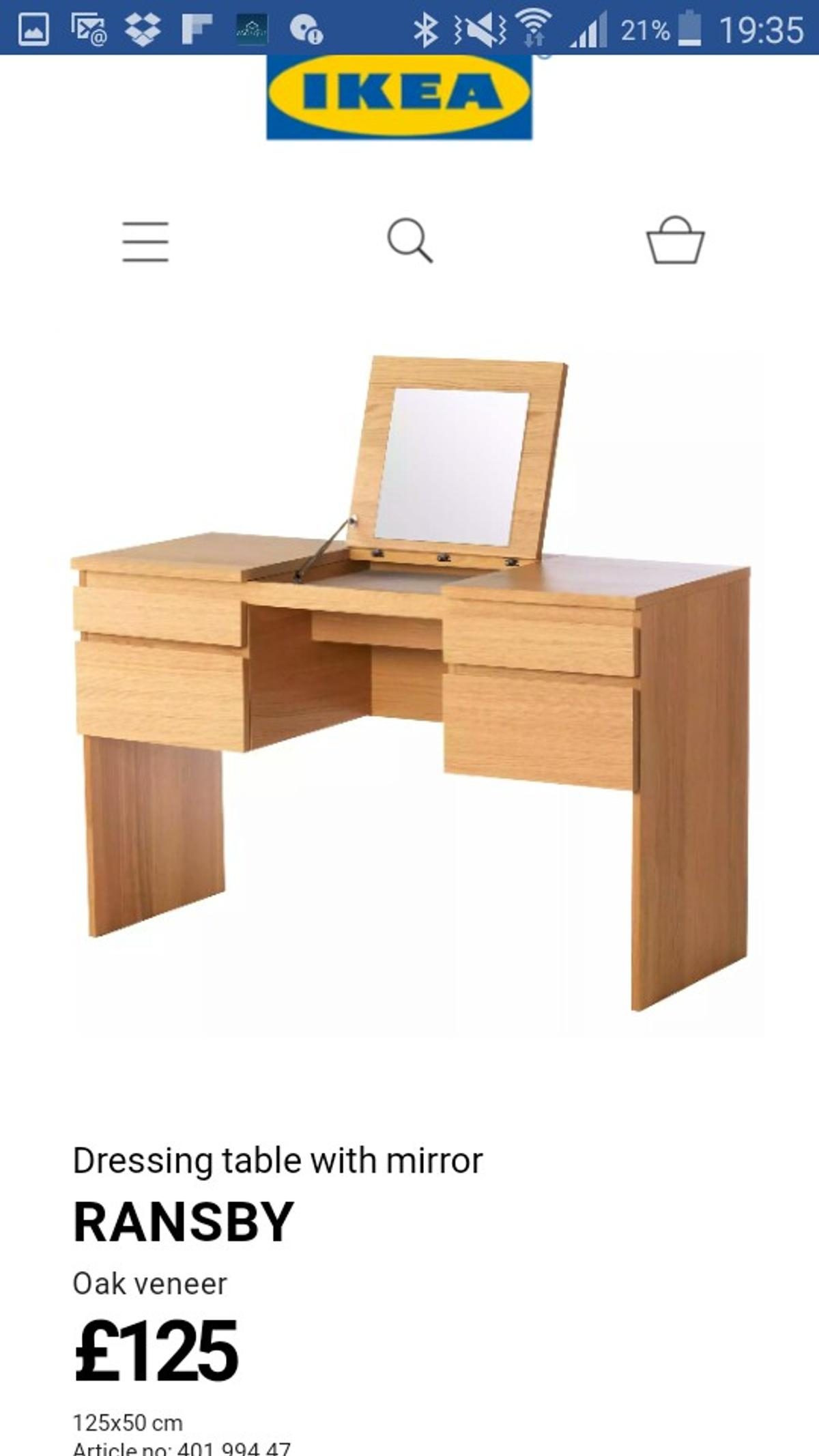 sports shoes 01640 1d72f Ikea Ransby dressing table with stool. in LU3 Luton for ...