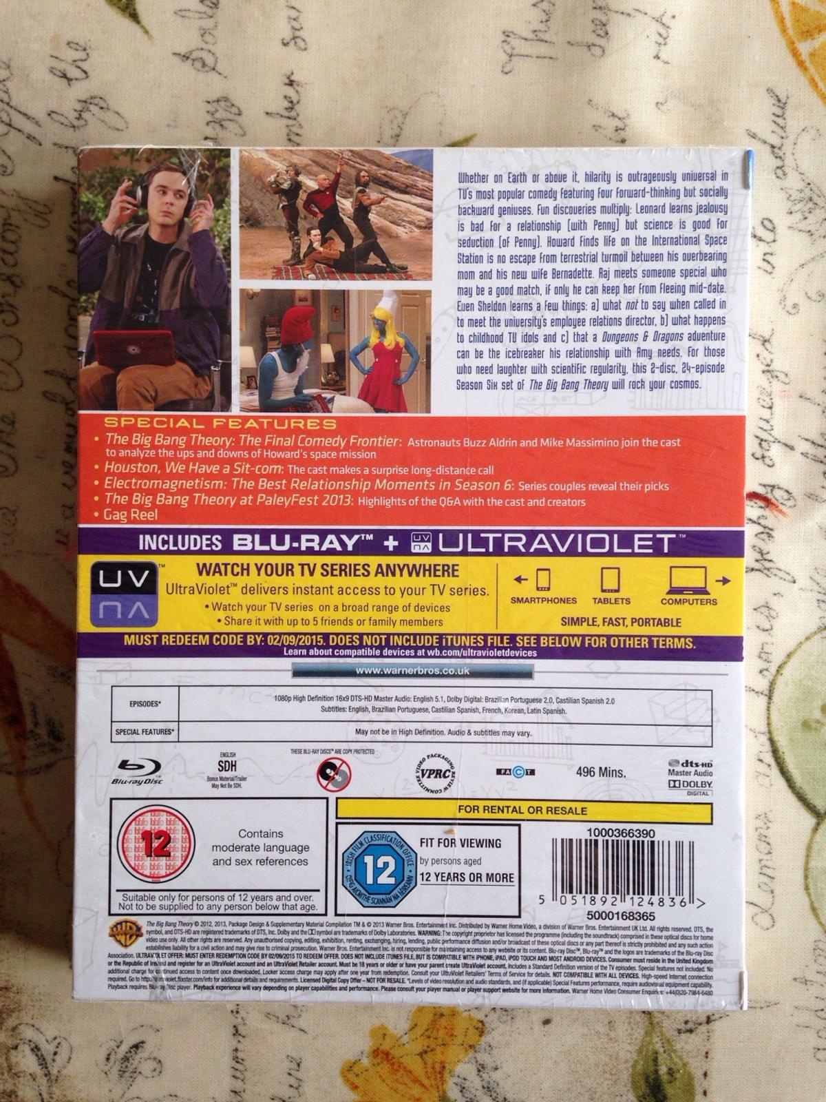 5a957e9ddbf Big Bang Theory Season 6 Bluray in BH22 Moors for £3.00 for sale ...