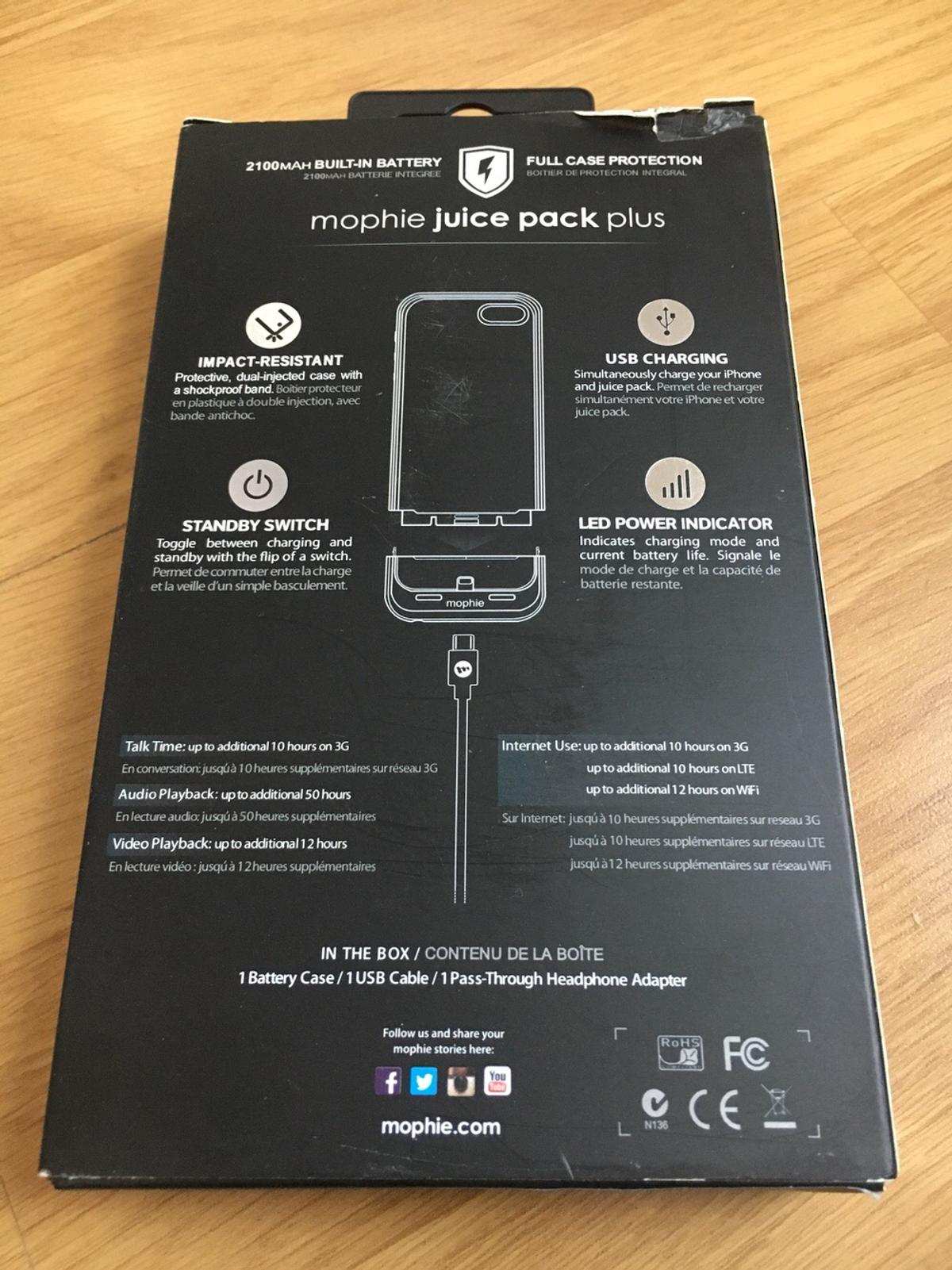low priced 62bed 6f248 Mophie Juice Pack Plus battery case 5,5s ,5SE