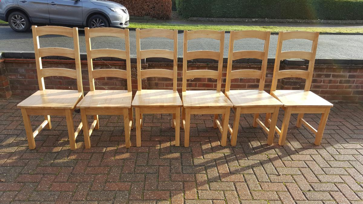 6 High Quality Wooden Dining Chairs In Nr8 Taverham For 50 00 Shpock