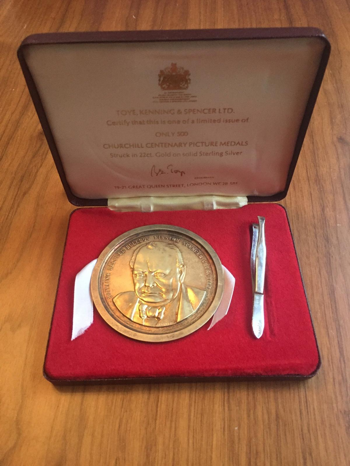 Churchill Picture Medal in Hertsmere for £450 00 for sale