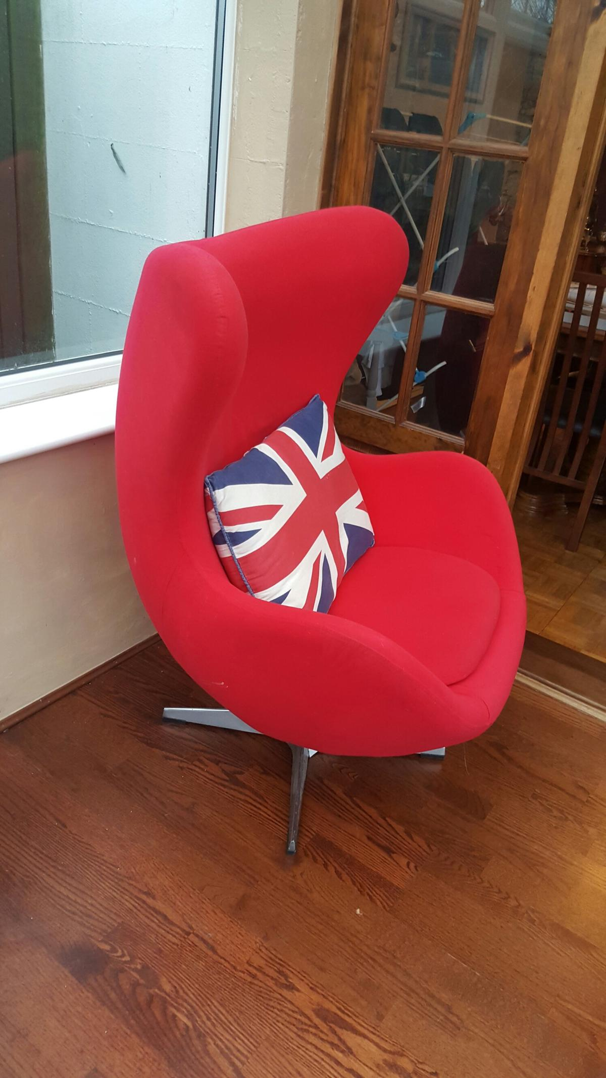 Admirable Retro Red Egg Swivel Chair Squirreltailoven Fun Painted Chair Ideas Images Squirreltailovenorg