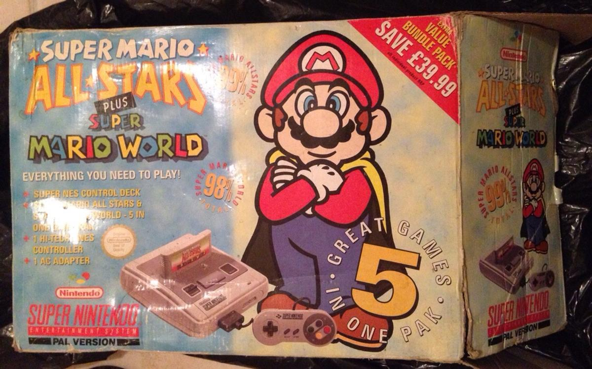 SNES boxed super mario allstars+mario world  in SW18
