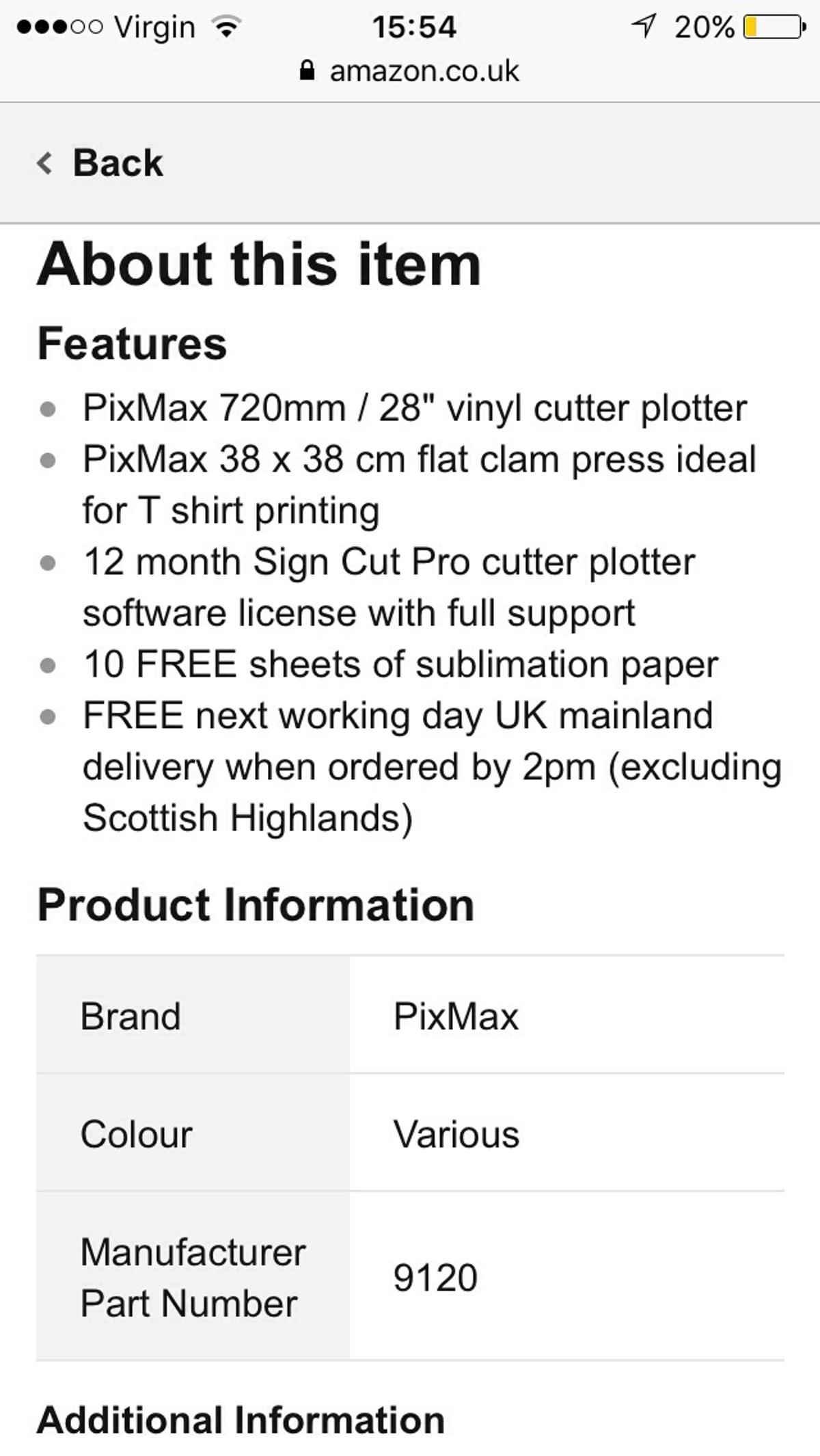 Primax vinyl cutter and heat press (T-Shirts in London for £290 00