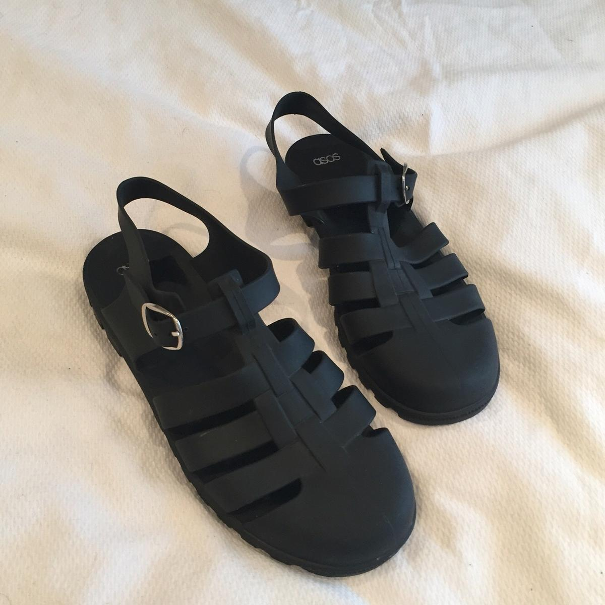 5e9b7ca65c0 ASOS matte black jelly sandals size 8 in TS17 Thornaby for £6.00 for ...