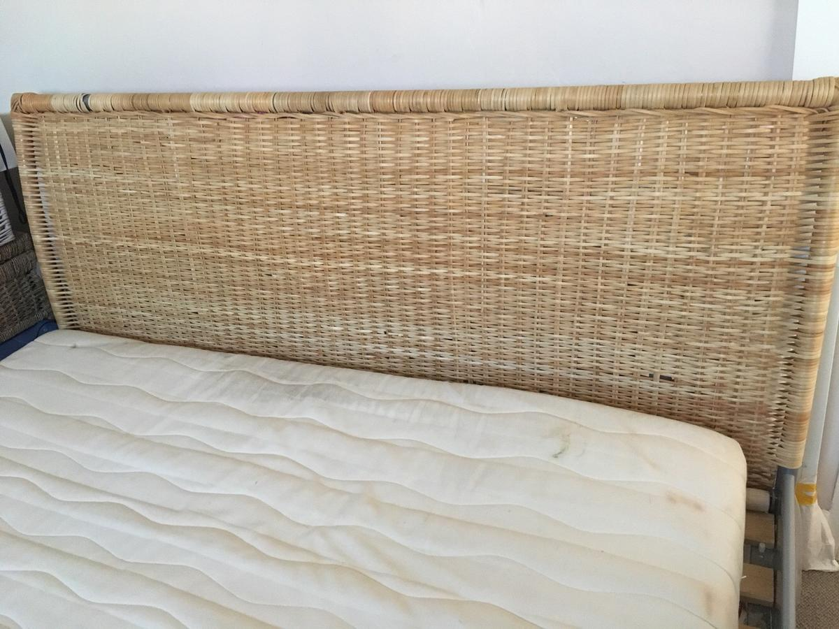 Ikea Kingsize Wicker Bed Latex Mattress In En11 Hoddesdon