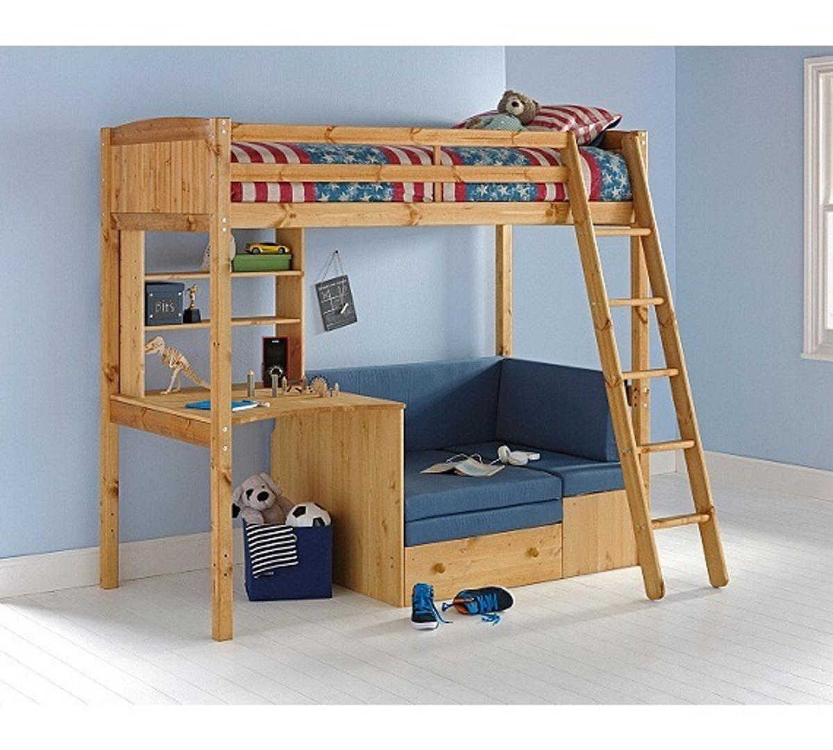 Thuka Solid Pine High Sleeper Bed