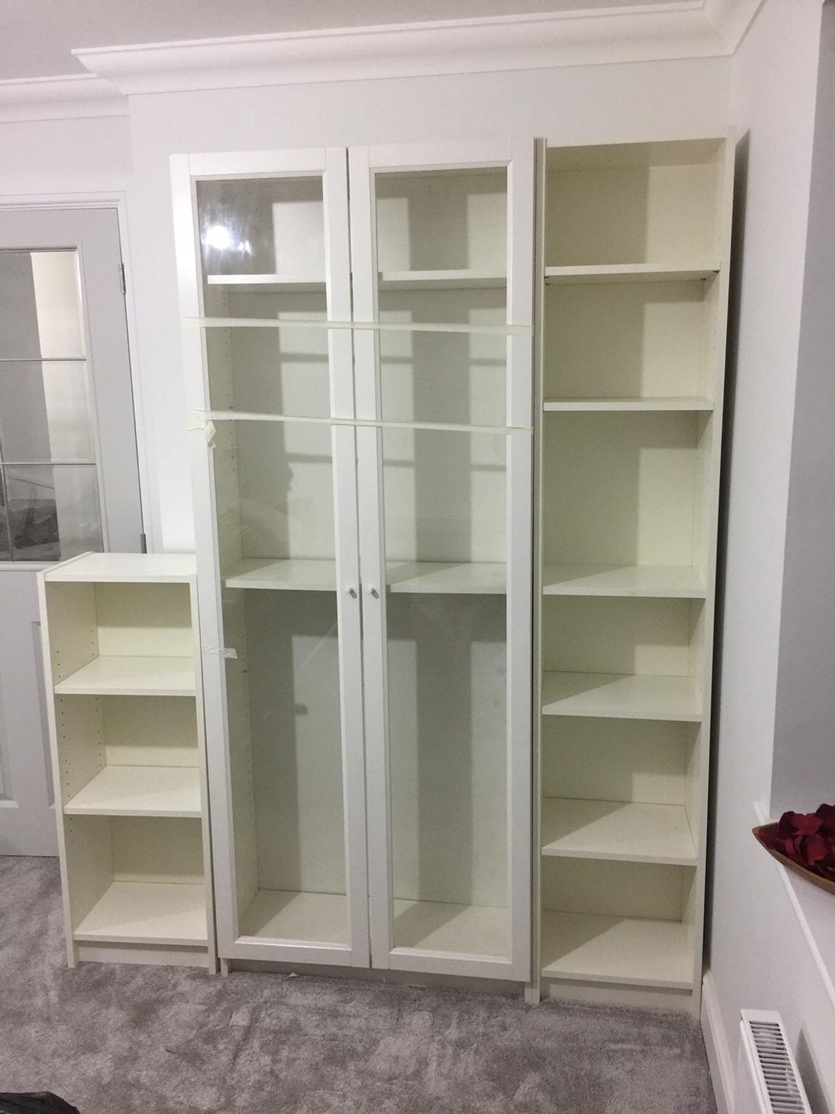 Ikea Billy Bookcase White X 3 Glass Doors In Cv5 Coventry